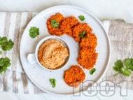 Печени вегетариански кюфтенца от моркови и чесън на фурна